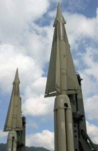 missile with nuclear warhead