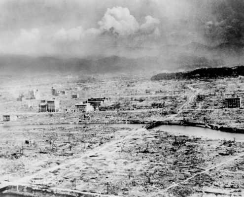 Hiroshima after the atomic bomb destroyed the city.
