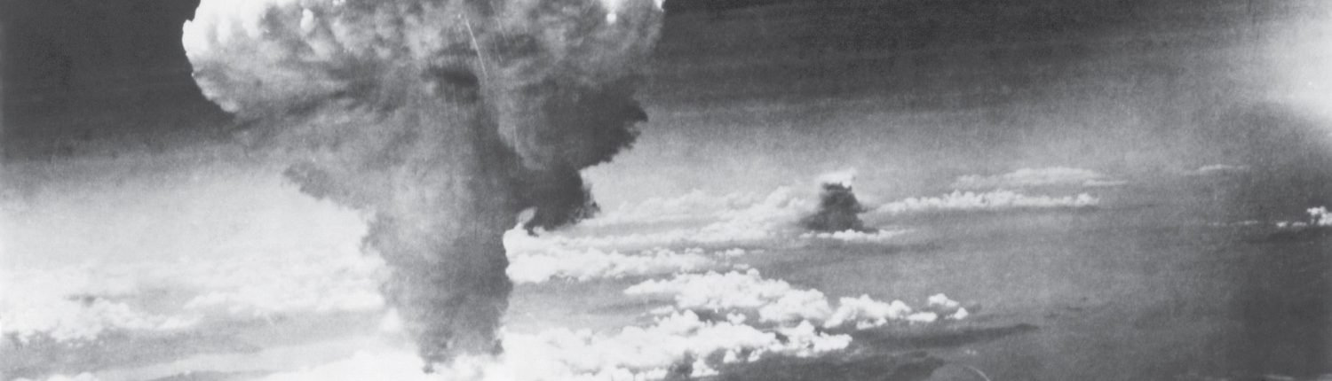 Mushroom cloud from the nuclear bomb dropped on Nagasaki