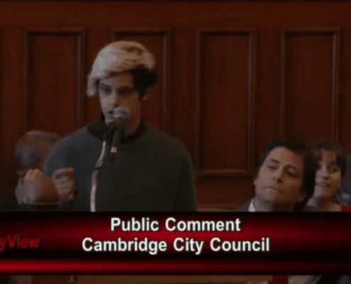 Lucas Speaking at Cambridge Meeting
