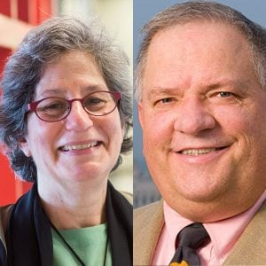 Photo of Susan Solomon and Stephen O. Andersen, podcast guests and winners of the 2021 Future of Life Award.